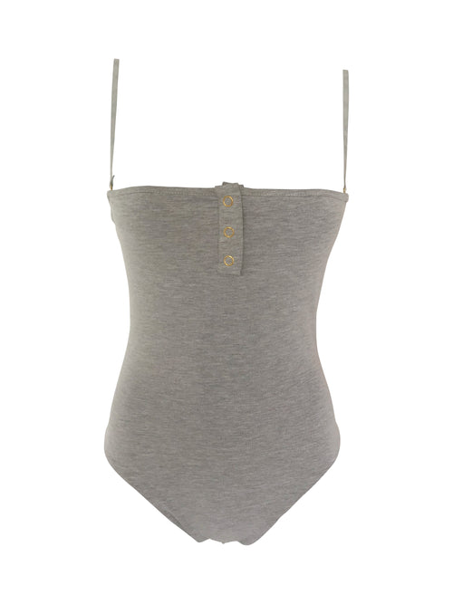 The Staple Bodysuit - Grey - Staple & Hue