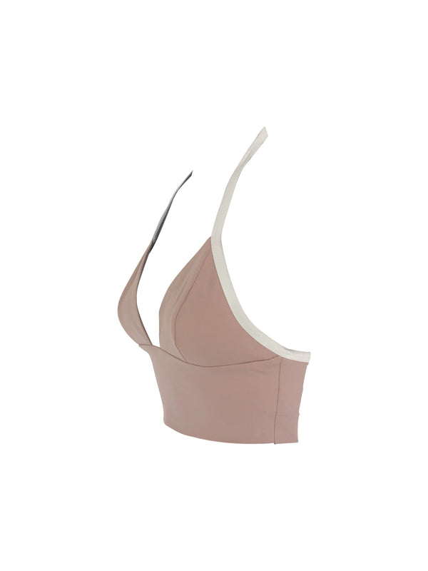 The Staple Halter - Dusty Rose/White - Staple & Hue