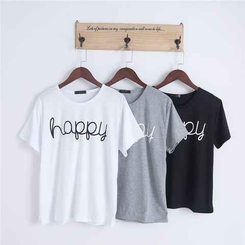 Fly Chic Happy Letters Tee