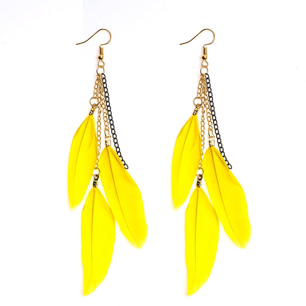 Fly Chic Feather Earrings