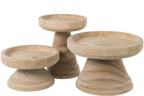 70  wood  candle holder base and option for top glass 50 cm and   set