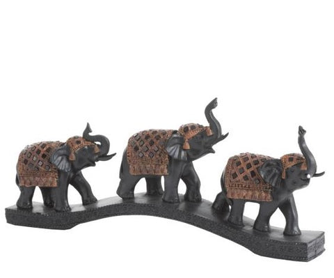 3 miniature decorative elephant 35 cm