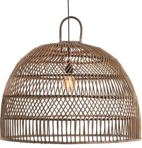 Lamp Shade Ball Large Rattan Natural (91332)
