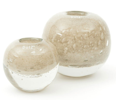 DUTZ design heavy glass vase cream