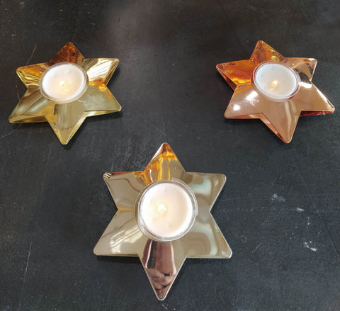 a candle holder star shape