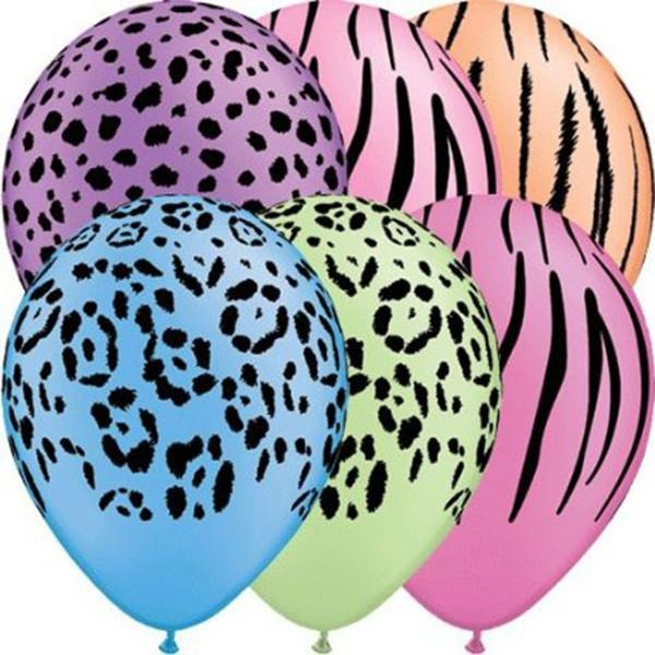 28cm Round Neon Assorted Safari Assorted #10094 - Pack of 50