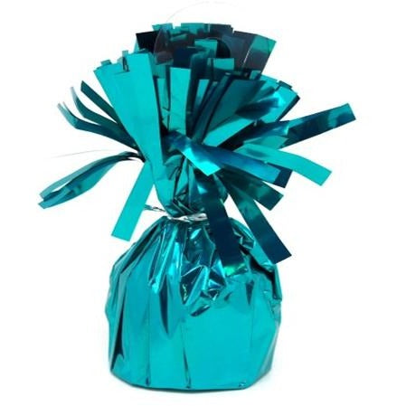 Balloon Weight Foil Teal 180g #104962 - Pack of 6