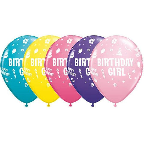 28cm Round Special Assorted Birthday Girl #11910 - Pack of 50