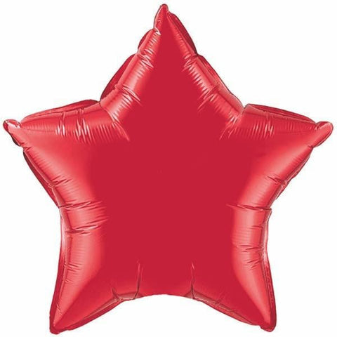 90cm Star Ruby Red Plain Foil #12605 - Each (Unpkgd.)