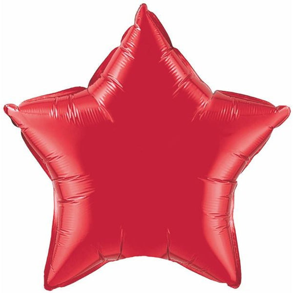 50cm Star Ruby Red Plain Foil #12626 - Each (Unpkgd.)