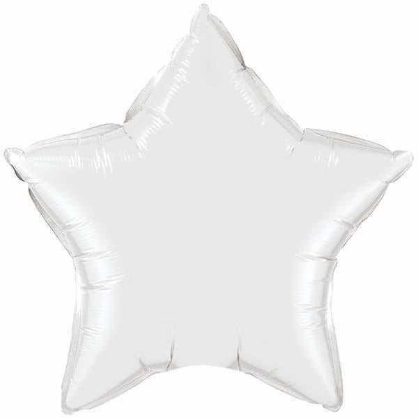 50cm Star White Plain Foil #12643 - Each (Unpkgd.)