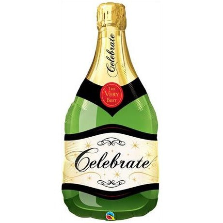 98cm Shape Foil Bottle Celebrate Bubbly Wine Bottle SW #16122 - Each (pkgd.)