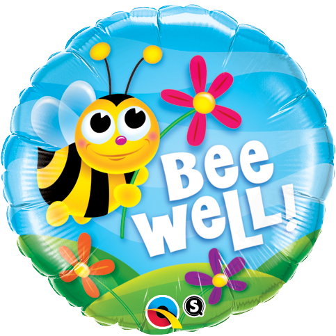 45cm Round Foil Bee Well! Flowers #16998 - Each (Pkgd.)