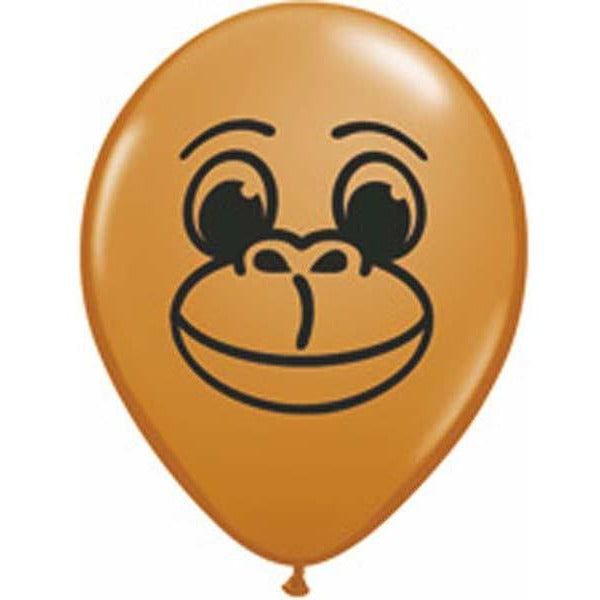 12cm Round Mocha Brown Monkey Face #22905 - Pack of 100