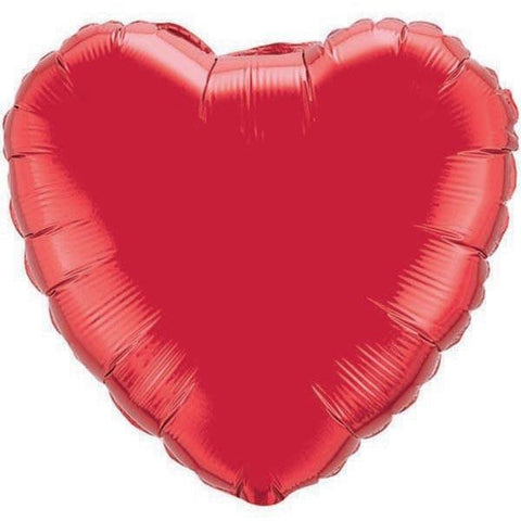 22cm Heart Ruby Red Plain Foil #23355 - Each (Unpkgd.) SPECIAL ORDER ITEM