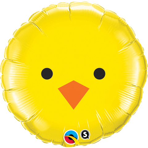 45cm Round Foil Baby Chick #23980 - Each (Pkgd.) SPECIAL ORDER ITEM