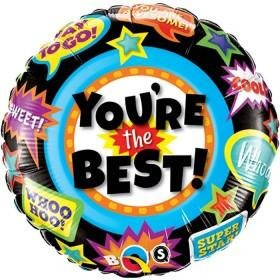 45cm Round Foil You're The Best Accolades #24099 - Each (Pkgd.)