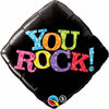 45cm Diamond Foil You Rock! Black #25311 - Each (Pkgd.) SPECIAL ORDER ITEM