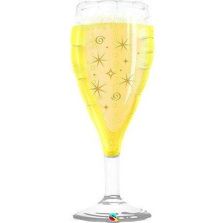 98cm Shape Foil Glass Bubbly Wine Glass SW #16269 - Each (pkgd.)