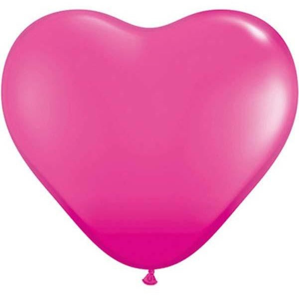 15cm Heart Wild Berry Qualatex Plain Latex #30213 - Pack of 100 SPECIAL ORDER ITEM