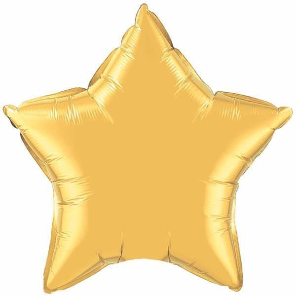 50cm Star Metallic Gold Plain Foil #35433 - Each (Unpkgd.)
