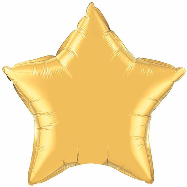 90cm Star Metallic Gold Plain Foil #36498 - Each (Unpkgd.)