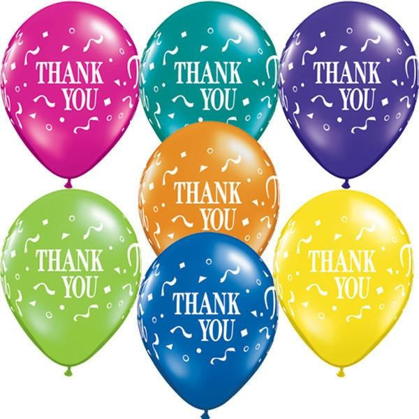 28cm Round Fantasy Assorted Thank You Thank You Confetti #37443 - Pack of 50 SPECIAL ORDER ITEM