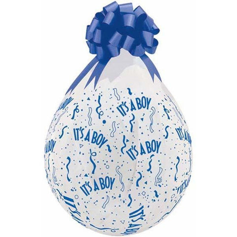 45cm Round Diamond Clear It's A Boy-A-Round (Blu) #37643 - Pack of 25