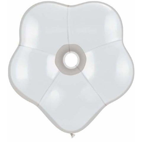 15cm Blossom Diamond Clear Qualatex Plain Latex Blossom #37684 - Pack of 50 SPECIAL ORDER ITEM