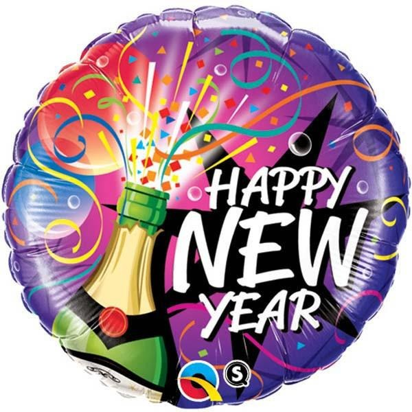 45cm Round Foil New Year-Sip, Sip Hooray #40085 - Each (Pkgd.) SPECIAL ORDER ITEM