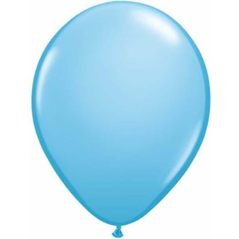 12cm Round Pale Blue Qualatex Plain Latex #43571 - Pack of 100