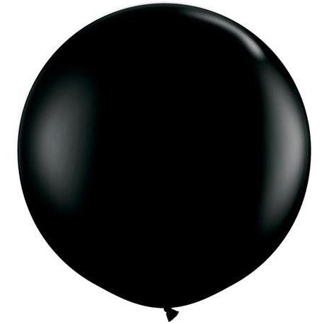 90cm Round Onyx Black Qualatex Plain Latex #42857 - Pack of 2