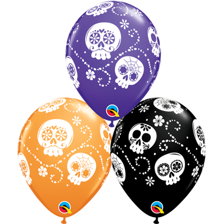 28cm Round Special Assorted Sugar Skulls #44646 - Pack of 50