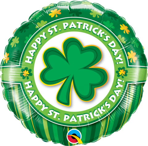45cm Round Foil Happy St. Patrick's Day #46056 - Each (Pkgd.) SPECIAL ORDER ITEM