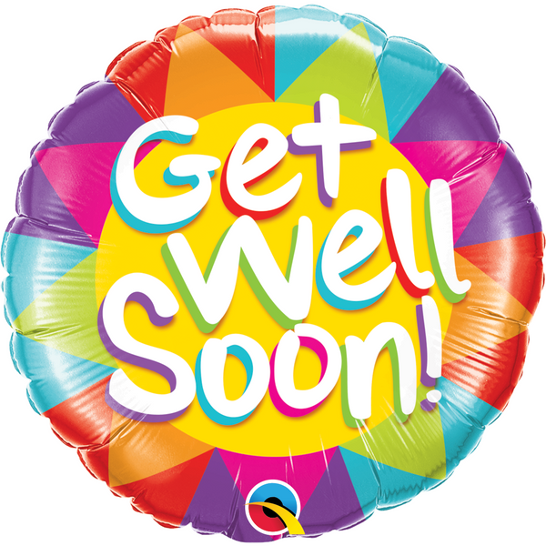 45cm Round Foil Get Well Soon Sunshine #49206 - Each (Pkgd.)