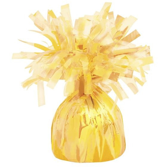 Balloon Weight Foil Yellow #104948 - Pack of 6