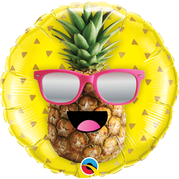 45cm Round Foil Mr Cool Pineapple #57271 - Each (Pkgd.)