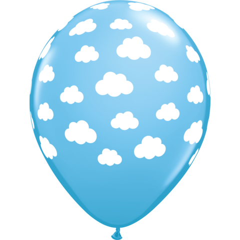 28cm Round Pale Blue Clouds #57633 - Pack of 50