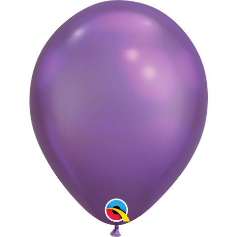 28cm Round Chrome Purple Qualatex Plain Latex #58274 - Pack of 100 BACK IN STOCK