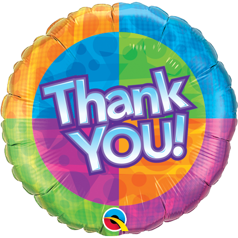 45cm Round Foil Thank You! Star Patterns #60872 - Each (Pkgd.) SPECIAL ORDER ITEM