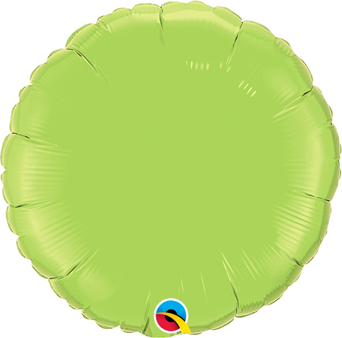 22cm Round Lime Green Plain Foil #64057 - Each  (Unpackaged, Requires air inflation, heat sealing) SPECIAL ORDER ITEM