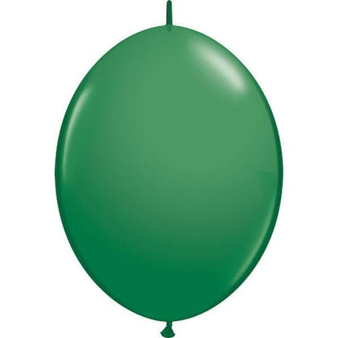 30cm Quick Link Green Qualatex Quick Link Balloons #65224 - Pack of 50