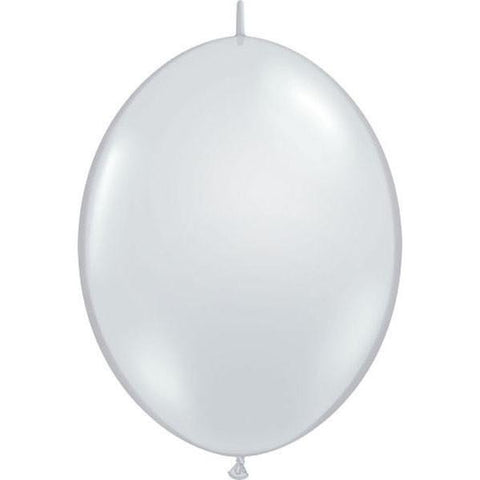 30cm Quick Link Diamond Clear Qualatex Quick Link Balloons #65273 - Pack of 50