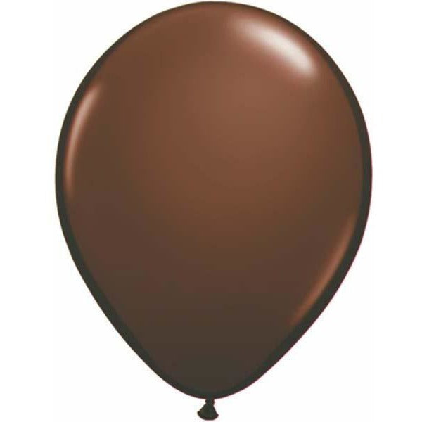 28cm Round Chocolate Brown Qualatex Plain Latex #68777 - Pack of 25