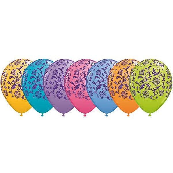 28cm Round Contempory Assorted Damask Print (Purple) #85823 - Pack of 50 SPECIAL ORDER ITEM