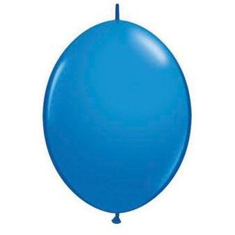 15cm Quick Link Dark Blue Qualatex Quick Link Balloons #90175 - Pack of 50