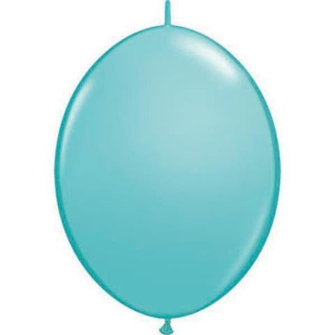 30cm Quick Link Caribbean Blue Qualatex Quick Link Balloons #65229 - Pack of 50