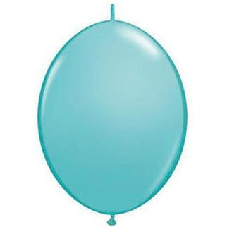 15cm Quick Link Caribbean Blue Qualatex Quick Link Balloons #90217 - Pack of 50