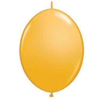 15cm Quick Link Goldenrod Qualatex Quick Link Balloons #90264 - Pack of 50 SPECIAL ORDER ITEM