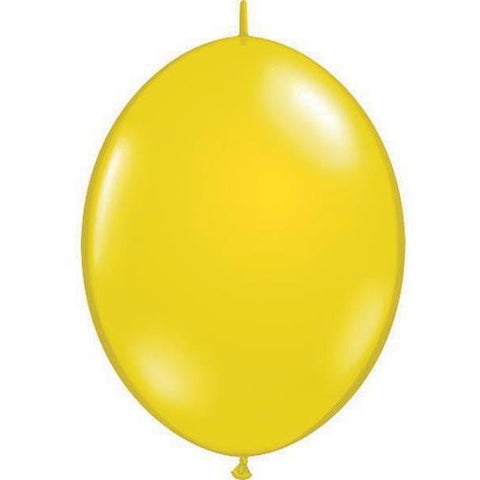 15cm Quick Link Citrine Yellow Qualatex Quick Link Balloons #90370 - Pack of 50 SPECIAL ORDER ITEM
